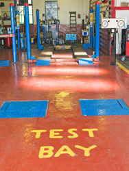 MOT test bay